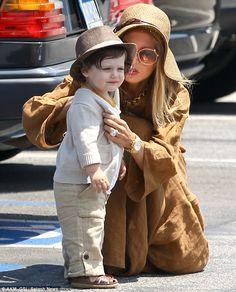 Dapper lil' guy: Rachel  Zoe and Skylar her adorable little boy
