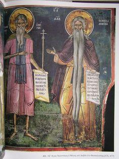 Byzantine Art, Orthodox Icons, Saints, Fresco