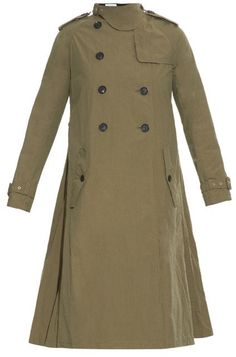 $1,360, Kolor Oversized Cotton Blend Trench Coat. Sold by MATCHESFASHION.COM. Click for more info: https://lookastic.com/women/shop_items/356242/redirect