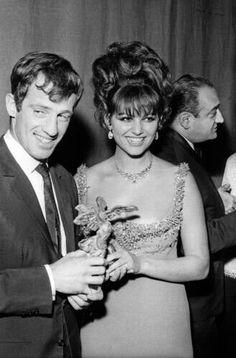 "Claudia Cardinale"" & Jean Paul Belmondo .... #italianbeauty"