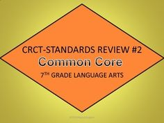 CRCT 7th Grade Language Arts Standards Review #2 PowerPoint - Aligned to new Common Core Standards! Great test prep!