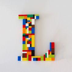 Monogramm-Lego-Wand-Kunst - Ähnliche Artikel wie Monogramm Lego Wandkunst auf Etsy Vous êtes à la bonne adresse pour diy surg - Monogram Wall Letters, Lego Letters, Letter Wall, Decorative Letters For Wall, Wall Letters Decor, Legos, Deco Lego, Lego Room Decor, Lego Wall Art