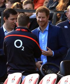 Prince Harry, Patron of the Rugby Football Union (RFU) attends an England Rugby training s...
