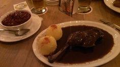 Ente mit Knödel im Jagdschloss. Werde Restaurant-Tester bei www.testando.de/pinterest