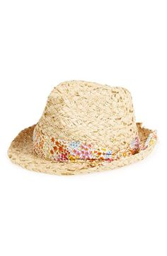 Big Buddha Floral Band Sequin Straw Fedora available at #Nordstrom