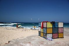 Another great shot of the Rubik's cube sculpture at Maroubra beach, Australia
