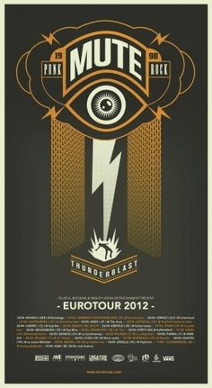 MUTE poster Eurotour 2012
