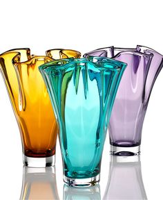 Lenox Crystal, Organics Colored Collection - Bowls & Vases - for the home - Macy's ~ Turquoise, please!