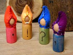 Waldorf Punctuation Gnomes, Punctuation, Educational Toy, Waldorf Home school, Waldorf School, MADE TO ORDER. $30.00, via Etsy.