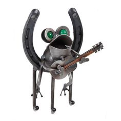 Frog With Guitar Key Holder  - part of the Yardbirds collection by Richard Kolb. See the entire collection on our website, detailsart.com