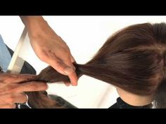 How to cut your own hair...  Front twist cutting technique