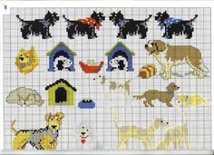chien - dog - point de croix - cross stitch - Blog : http://broderiemimie44.canalblog.com/