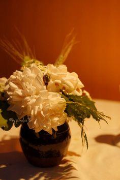 vas #rustic cu flori