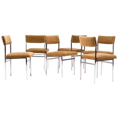 Architectural Scandinavian Dining Chairs, 1960s