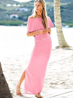 Off-the-shoulder Maxi Dress- non maternity but would be perfect if I order a bit bigger size than normal because it's super stretchy!! Need for cabo