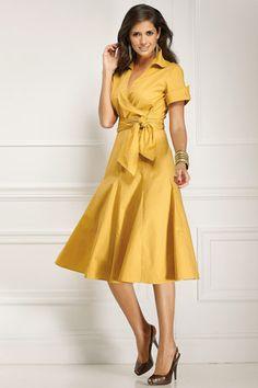 Poplin Wrap Dress - Love
