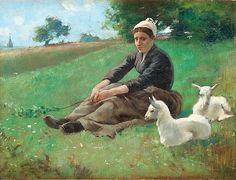 Bergère, 1882 -  Gaston de La Touche (French, 1854-1913)