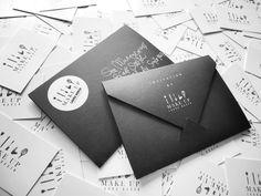 Invitation for MUA Laura Noben by Esther JL Noben, via Behance