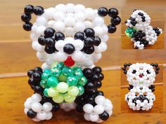 Items similar to Beaded panda bear Beaded Animal Figurine, sitter, hanger, ornament, knick-knack on Etsy Beaded Crafts, Jewelry Crafts, Seed Bead Jewelry, Seed Beads, Loom Band Animals, Projects For Kids, Craft Projects, Arts And Crafts, Diy Crafts