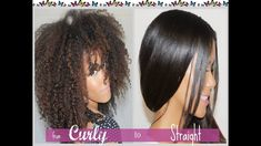 4 Things You Should Do Before Straightening Curly Hair Curly To Straight Hair, Super Curly Hair, Curly Hair Tips, Black Curly Hair, Straight Hairstyles, Curly Hair Styles, Thick Hair, Natural Hair Care, Natural Hair Styles