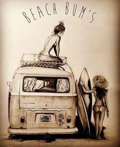 pollock art blue kombi and, Volkswagen Transporter, Transporteur Volkswagen, Vw T1, Surfing Tattoo, Kombi Hippie, Combi Wv, Kdf Wagen, Bus Girl, Vw Vintage