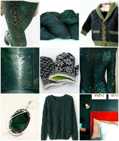 Sources, left to right, top to bottom: leggings, TFA Purple Label in Spruce, Gramps, tree lined road, Snowfling Mitts, sequinned dress, Gem, cabled sweater, green room.