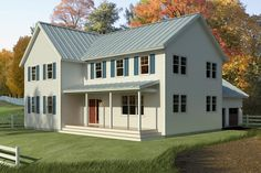 Add a more wrap around porch and more New England styling