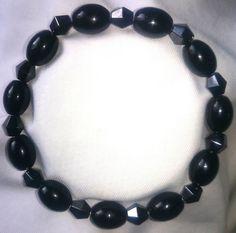 Magnetische Hämatit Achat Onyx Heilstein Armband Bracelet