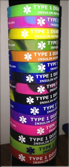 Pump*tastic Insulin Pump Case offers D*BAND Medical Bracelets that your kids are going to LOVE!!!  Great NEW Funky Colors :)