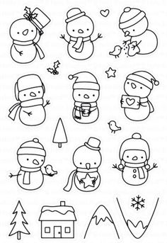 Winter snowman Transparent Clear Silicone Stamp Seal DIY Scrapbooking photo Album Decorative Stamps from Home & Garden on AliExpress Cute Snowman, Christmas Snowman, Kids Christmas, Christmas Cards, Xmas, Snowmen, Scrapbooking Photo, Diy Scrapbook, Scrapbook Supplies