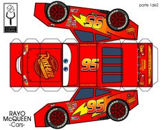42 Ideas for party kids cars lightning mcqueen Disney Cars Party, Disney Cars Birthday, Cars Birthday Parties, Boy Birthday, Paper Car, Paper Toys, Auto Party, Car Party, Lightening Mcqueen