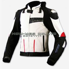 Free Shipping JAPAN KOMINE JK015 high-performance drop resistance clothing racing suits motorcycle jacket  WHITE BLACK US $185.00