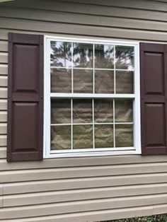 Raised panel shutters are a classic selection for many homeowners. These fixed vinyl shutters are an excellent, cost effective option. Vinyl Shutters, Exterior Shutters, Raised Panel Shutters, Shades Blinds, Window Treatments, Windows, Classic, Home, Derby