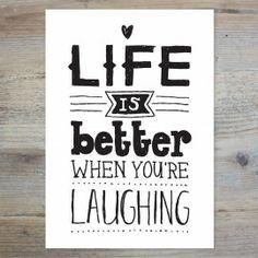 LIFE IS BETTER | POSTKAARTEN | postcards | PAQHUIS