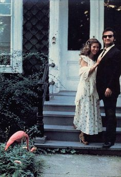 Carrie Fisher and John Belushi, c. 1980.