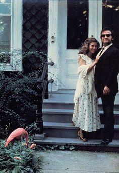 Carrie Fisher and John Belushi, c. 1980.