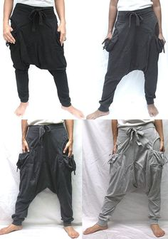 Hey, I found this really awesome Etsy listing at http://www.etsy.com/listing/175251846/trendy-hammer-drop-crotch-sweat-pants-hm