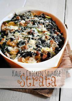 A Clove of Garlic, A Pinch of Salt: Kale + Chicken Sausage Strata