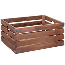 Global Chic Small Natural Wood Slat Crate by Ashland®