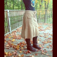 """Selling this """"Knee length corduroy skirt MAKE AN OFFER"""" in my Poshmark closet! My username is: cyncyn567. #shopmycloset #poshmark #fashion #shopping #style #forsale #Dresses & Skirts"""