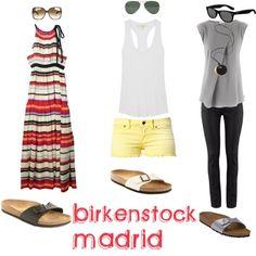 "Outfit ideas. Silver birkies. ""Birkenstock Madrid"" by sandrapereiranielsen on Polyvore"