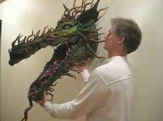 Como hacer una Cabeza de Dragon de Papel Mache