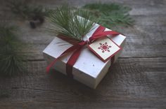 Christmas or winter gift wrapping ideas.