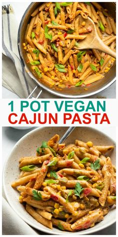 Cajun Recipes, Delicious Vegan Recipes, Pasta Recipes, Vegetarian Recipes, Cooking Recipes, Healthy Recipes, Whole Foods Vegan, Whole Food Recipes, Creamy Cajun Pasta