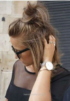 Insane Cute Hair Bun for Short Hair The post Cute Hair Bun for Short Hair… appeared first on Hairstyles .