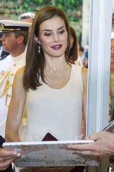 Queen Letizia of Spain attended the opening of Madrid Book Fair at the Parque del Retiro on May 26, 2017 in Madrid, Spain.