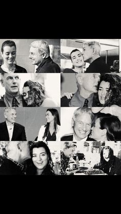 Gibbs and ziva>>> I just love the fatherly love he gives to all  3!!!!