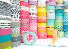 Pick 5 Whole Rolls of Assorted Washi Tapes 159 by TheSewingPost, $13.50