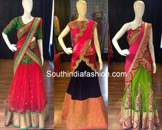 Love the middle half saree