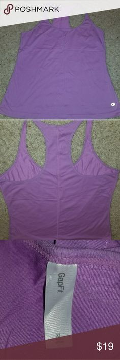 ♡Gap Fit Racer Back Tank in Purple - XL Purple tank is soft and sporty. Like new! GAP Tops Tank Tops